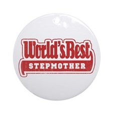 """World's Best Stepmother"" Ornament (Round)"