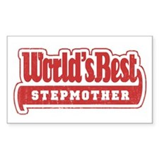 """World's Best Stepmother"" Rectangle Decal"