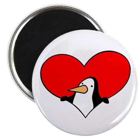 "Valentine Penguin 2.25"" Magnet (100 pack)"