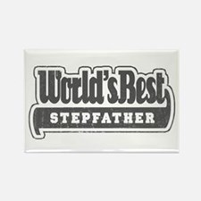 """""""World's Best Stepfather"""" Rectangle Magnet"""