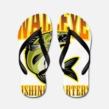 walleye fish fishing charters Flip Flops