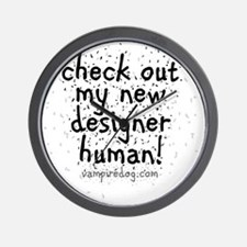 check out my new designer human 2 copy Wall Clock