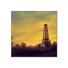 "old derick sunset throw pil Square Sticker 3"" x 3"""