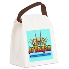 ThrowpillowFlameBlue Canvas Lunch Bag
