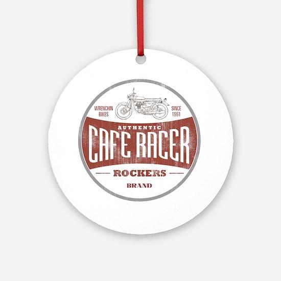Vintage Cafe Racer Round Ornament