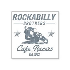 "Rockabilly Square Sticker 3"" x 3"""