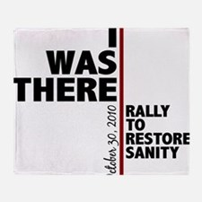 i was there sanity Throw Blanket