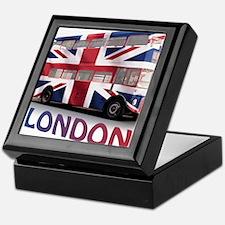 497 London Bus with Union Jack and te Keepsake Box