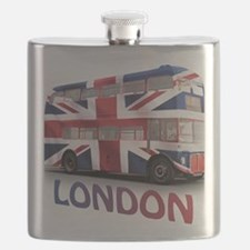 497 London Bus with Union Jack and text Flask