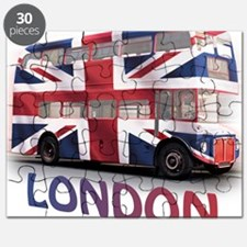 497 London Bus with Union Jack and text Puzzle