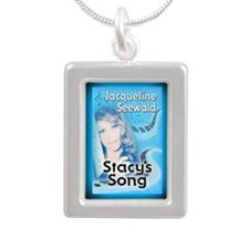 Stacys Song rect mag Silver Portrait Necklace