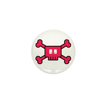 Pink Crossbones Mini Button (10 pack)