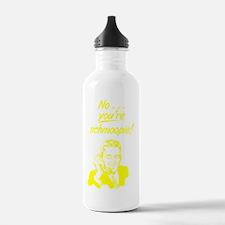 on_phone_schmoopie_yel Water Bottle