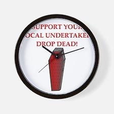 sick drop dead insult joke Wall Clock