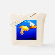 jellyfish blue marine peace and joy Tote Bag