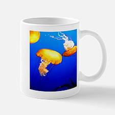 jellyfish blue marine peace and joy Mugs