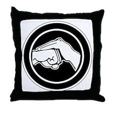 Kenpofistblack Throw Pillow