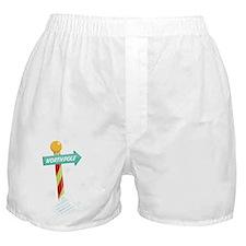North Pole Boxer Shorts