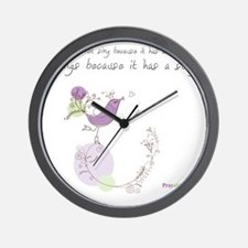 Bird Song Praywear Wall Clock
