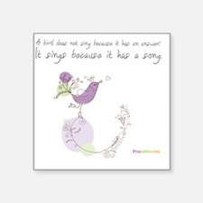 "Bird Song Praywear Square Sticker 3"" x 3"""