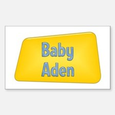 Baby Aden Rectangle Decal