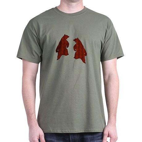 BROWN DANCING BEARS 2 Dark T-Shirt