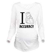 i_love_accuracy_dark Long Sleeve Maternity T-Shirt