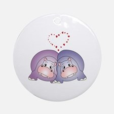Hippo Love Ornament (Round)