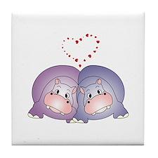 Hippo Love Tile Coaster