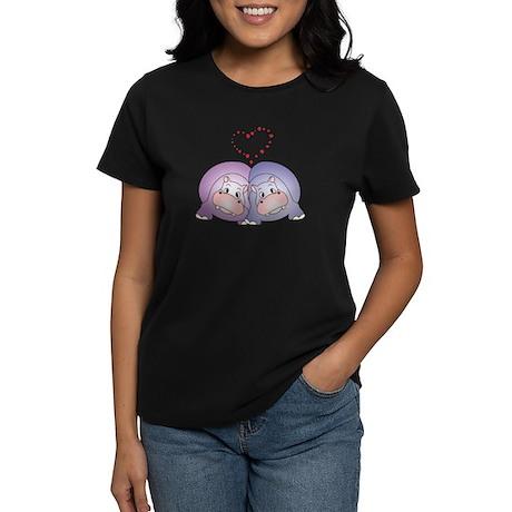 Hippo Love Women's Dark T-Shirt