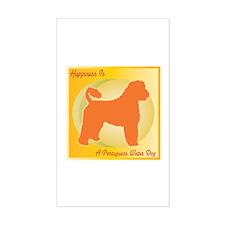 Portuguese Water Dog Happiness Sticker (Rectangula