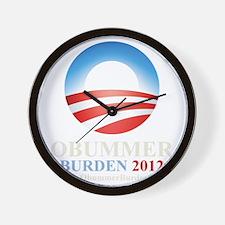 3-obummer_cp_shirt_dk Wall Clock