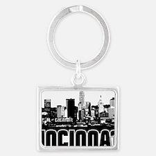 Cincinnati Skyline Landscape Keychain