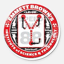 EmmettBrownInstitute Round Car Magnet