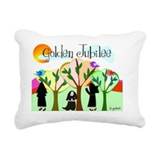 Golden Jubilee TREES SUN Rectangular Canvas Pillow