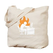 write stunts-dark shirt Tote Bag