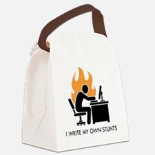 write stunts-white shirt Canvas Lunch Bag