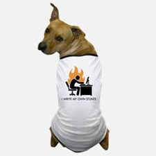 write stunts-white shirt Dog T-Shirt