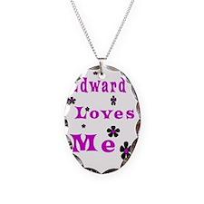Edward Loves me1 Necklace Oval Charm