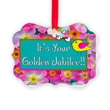 Golden Jubilee COSMOS BIRD Ornament