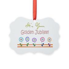 Golden Jubilee 5 flowers Ornament