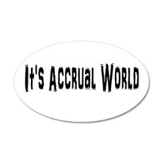Accural World 20x12 Oval Wall Decal