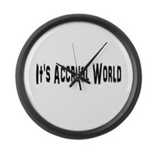 Accural World Large Wall Clock