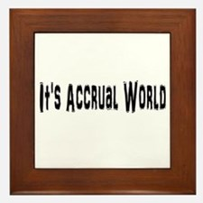Accural World Framed Tile