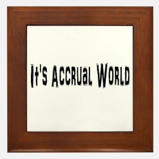 Accural World Framed Tile