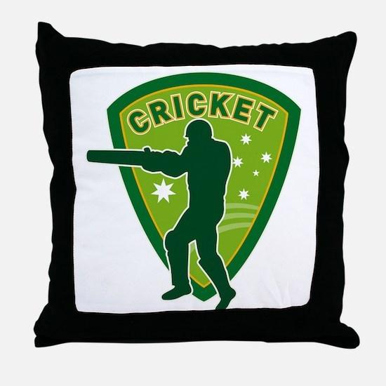 cricket batsman batting australia Throw Pillow
