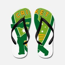 cricket batsman batting Flip Flops