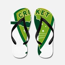 cricket batsman batting australia Flip Flops