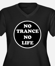 NO TRANCE NO Women's Plus Size Dark V-Neck T-Shirt