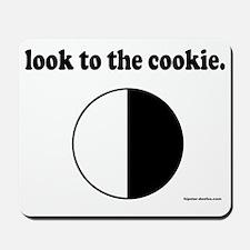 cookie_black_letters Mousepad
